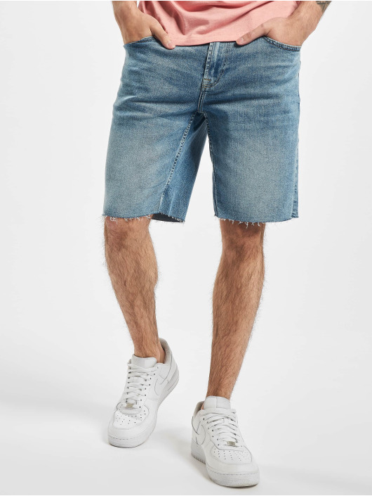 Only & Sons shorts onsPly Raw Hem Zip blauw