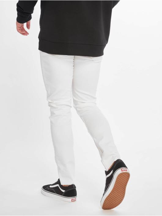 Only & Sons Skinny Jeans onsWarp Crop Knee Cut bílý