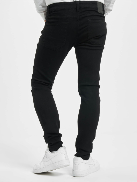Only & Sons Skinny Jeans onsWarp Life Knecut black