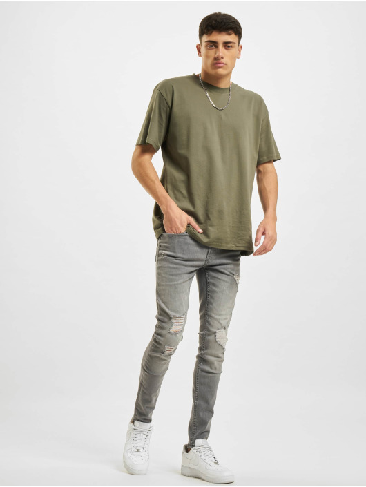 Only & Sons Skinny jeans Onswarp Life ST 9808 grijs