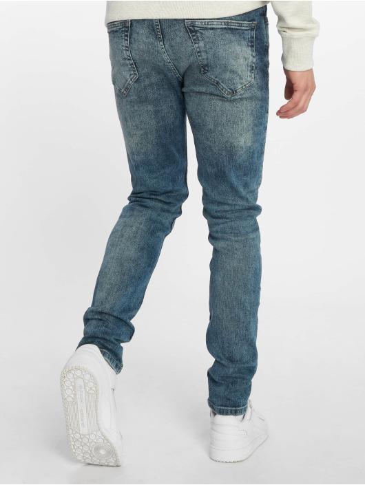 Only & Sons Skinny Jeans onsWarp Washed niebieski