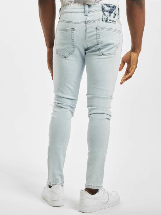 Only & Sons Skinny Jeans onsWarp Knee Cut niebieski