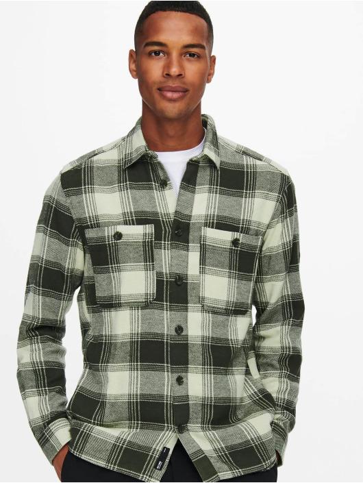 Only & Sons Skjorta Onsnadal  Flannel grå