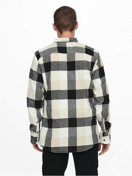 Only & Sons Skjorte Onsgudmund Check hvid