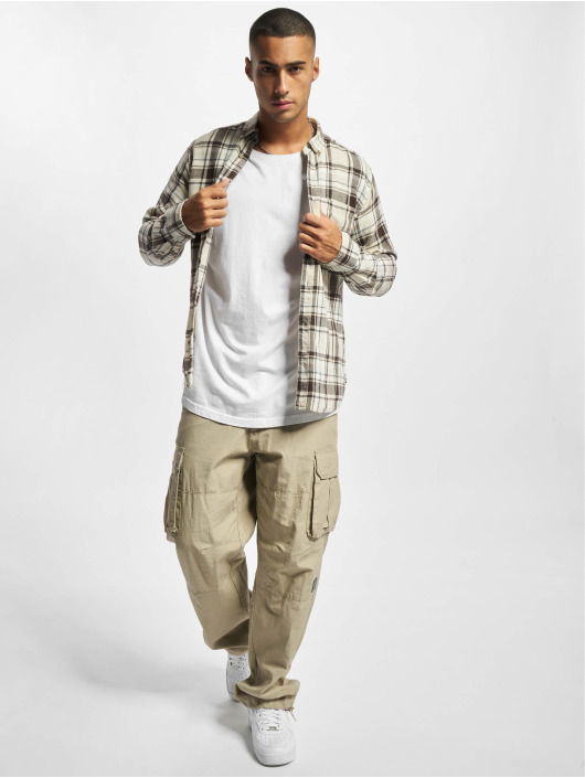 Only & Sons Skjorter Onssimon Checked Flannel beige