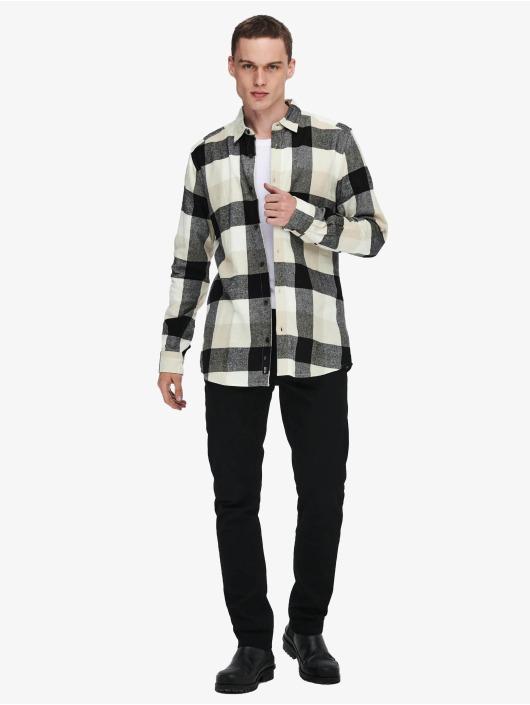 Only & Sons Skjorter Onsgudmund Check hvit