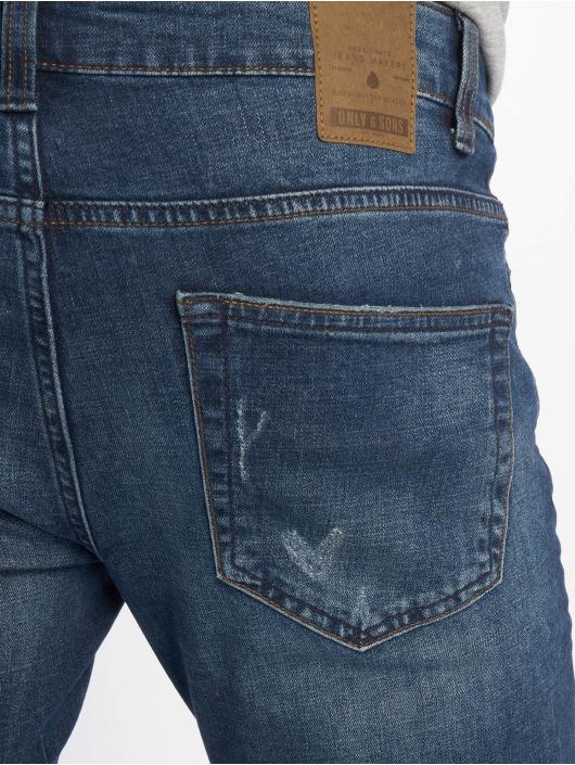 Only & Sons Slim Fit Jeans onsLoom Damage Blue blau