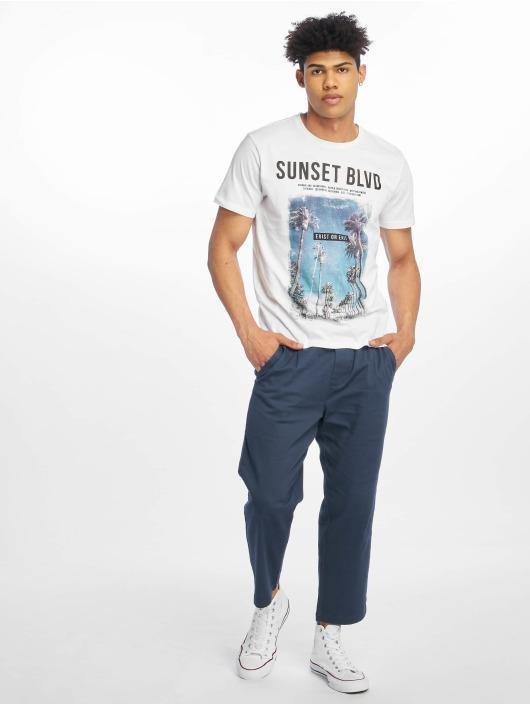 Only & Sons Stoffbukser onsLinus Wide Leg Cropped blå