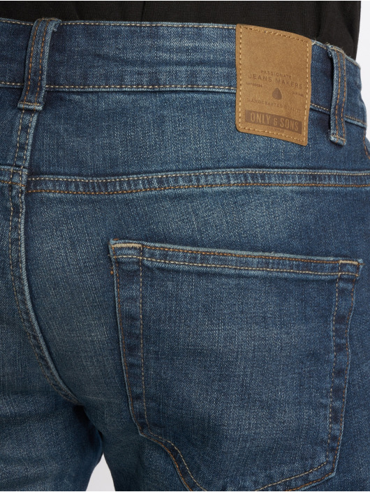 Only & Sons Straight Fit Jeans onsWeave Dark blå