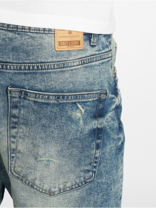Only & Sons Straight Fit Jeans onsAged Washed Pk 0439 blau