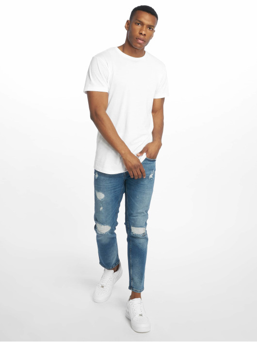 Only & Sons Straight Fit Jeans onsWeft Crop Washed blau