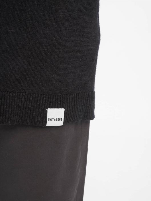 Only & Sons Strickjacke onsFlex 12 Linen Knit schwarz