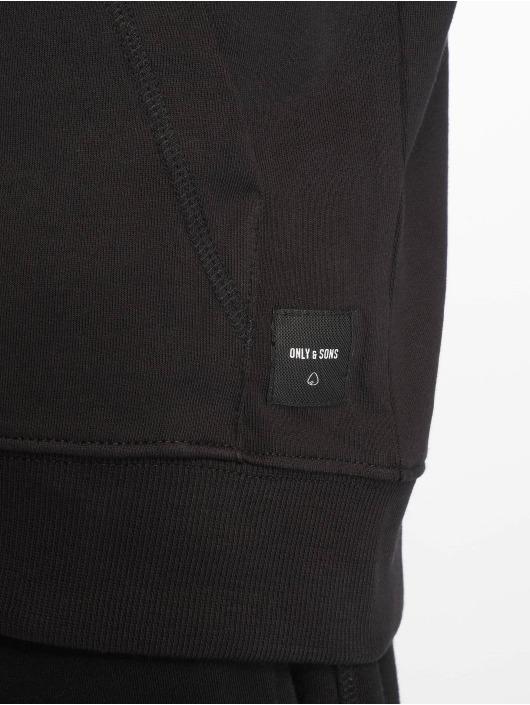 Only & Sons Sweat capuche zippé onsBasic Ubrushed noir