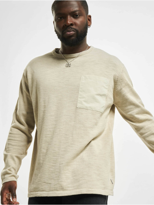 Only & Sons Swetry onsAlan Life 12 Slub Relaxed Fit bezowy