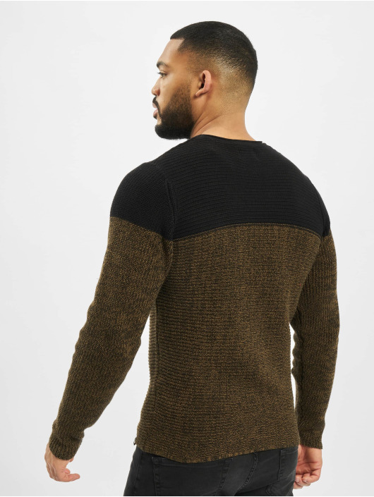 Only & Sons Swetry onsSato 5 Colorblock Knit Noos czarny