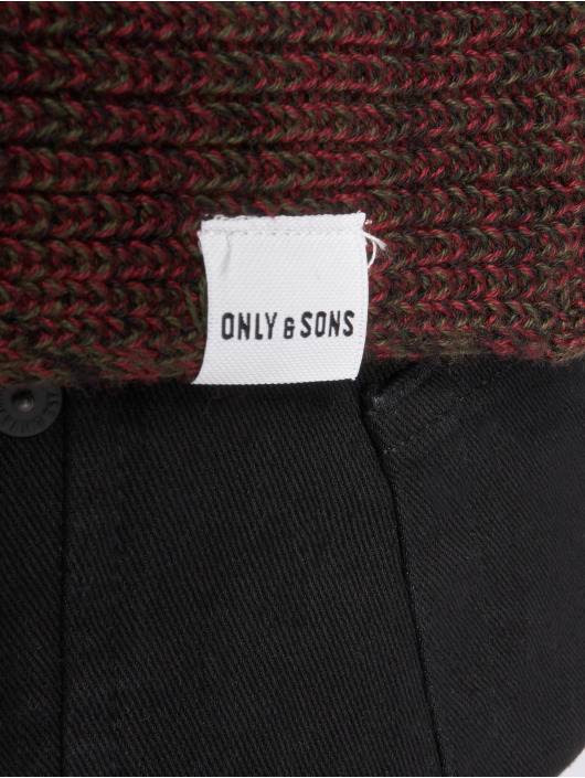 Only & Sons Swetry onsSato 5 Multi Clr Knit czerwony