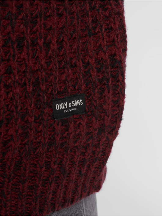 Only & Sons Swetry onsLazlo 3 Blocked czerwony