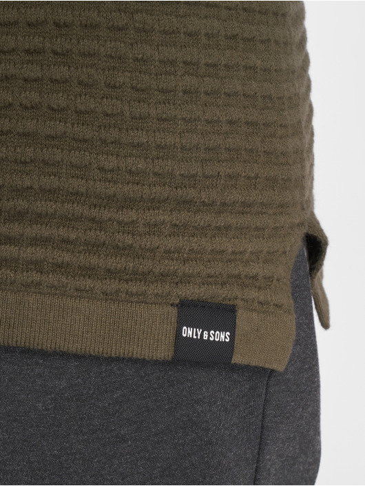 Only & Sons Swetry Onslukas 3d Structure Knit oliwkowy
