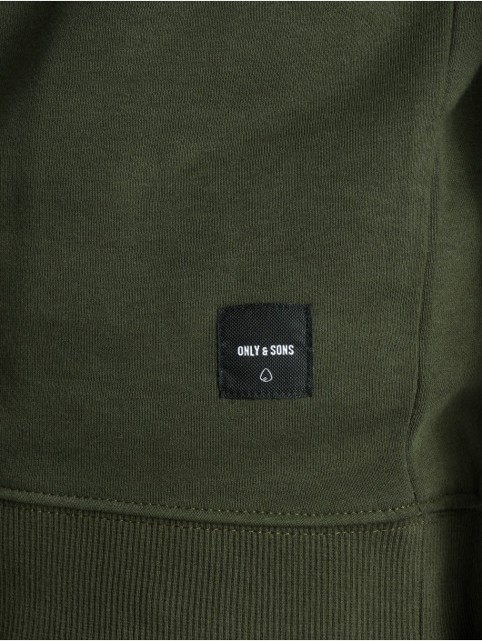 Only & Sons Swetry onsBasic Brushed oliwkowy