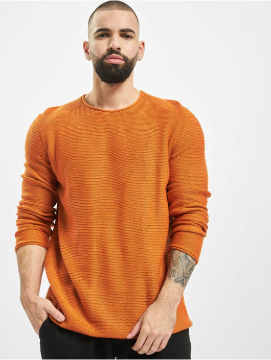 Only & Sons Swetry onsCam 7 Knit pomaranczowy