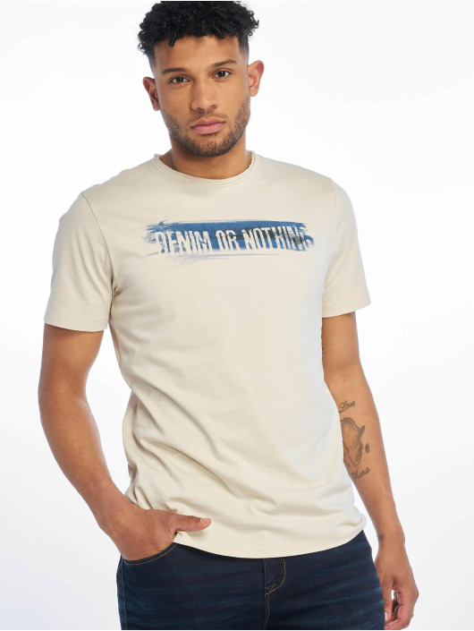 Only & Sons t-shirt onsAlbert Front Printed Fitted beige