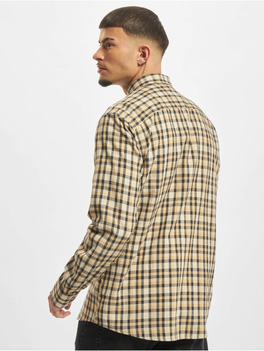 Only & Sons T-Shirt Onsnirel Checked beige