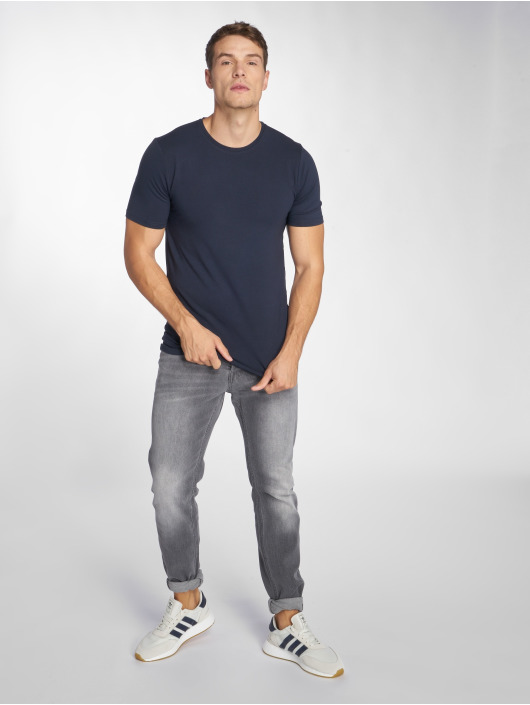 Only & Sons T-Shirt onsBasic Slim O-Neck blau