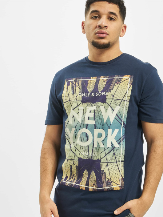 Only & Sons T-Shirt onsCalm Slim blau