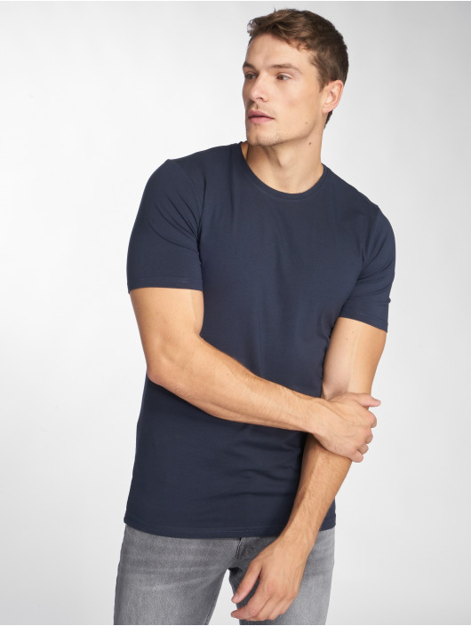 Only & Sons T-Shirt onsBasic Slim O-Neck bleu