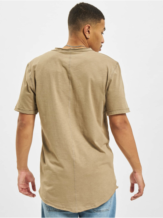 Only & Sons T-Shirt Ons Benne Life Longy NF 7822 braun