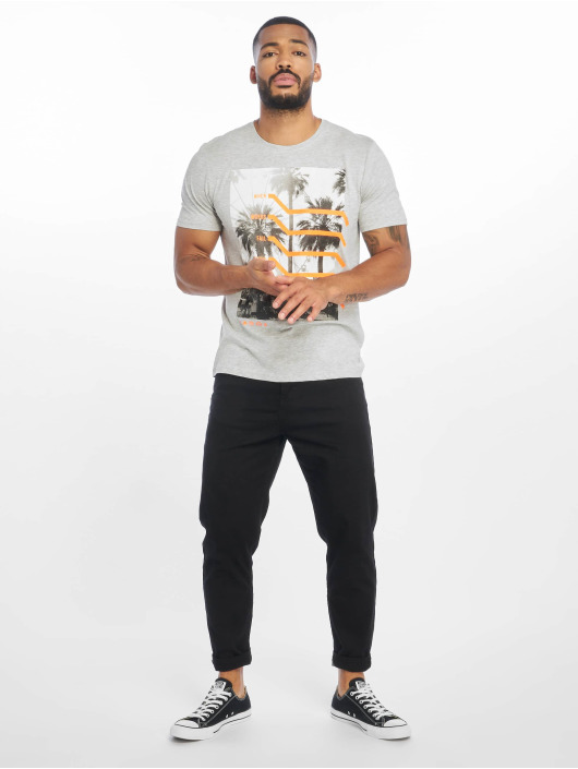 Only & Sons T-Shirt onsPetal Fitted Camp grau