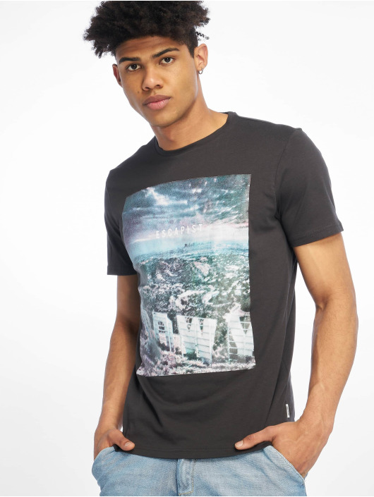 Only & Sons T-Shirt onsLamani Camp Fitted grau
