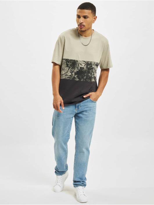 Only & Sons T-Shirt Ons Teddy Block Life REG NF 0261 grau