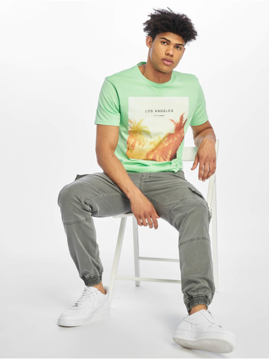 Only & Sons T-Shirt onsLamani Camp Fitted green