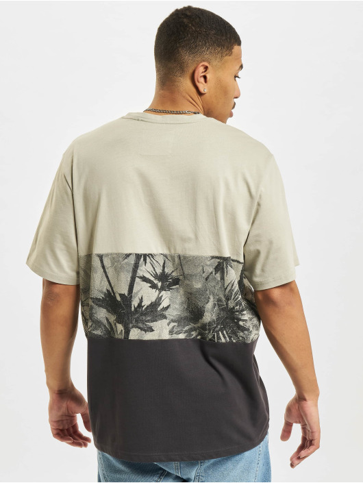 Only & Sons T-Shirt Ons Teddy Block Life REG NF 0261 grey