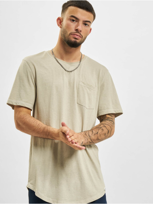 Only & Sons t-shirt Ons Teo Life Longy  NF 9657 grijs