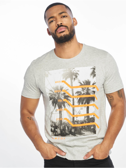 Only & Sons T-Shirt onsPetal Fitted Camp gris