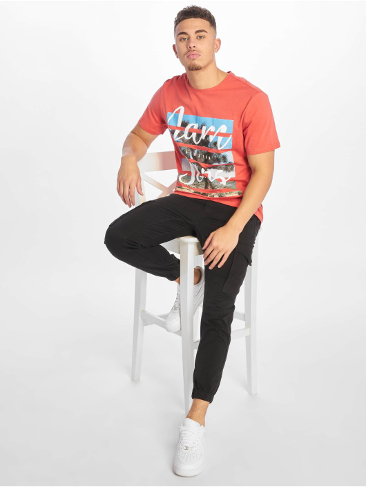 Only & Sons T-Shirt onsPacifica Fitte Camp red