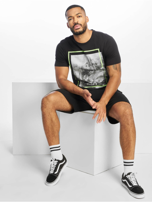 Only & Sons T-Shirt onsPetal Fitted Camp schwarz