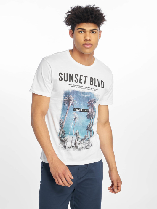 Only & Sons T-Shirt onsLamani Camp Fitted weiß