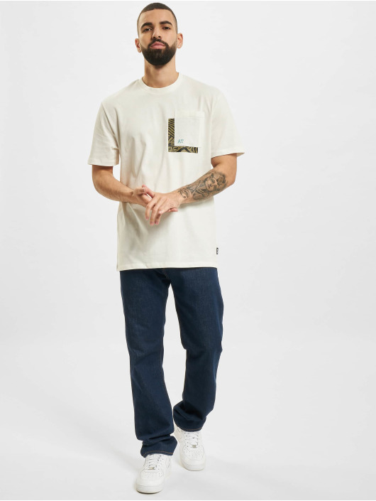 Only & Sons T-Shirt Onsasbjorn Life REG Pocket weiß