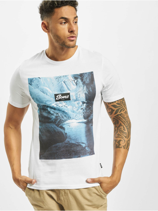 Only & Sons T-Shirt onsBrock Photoprint white