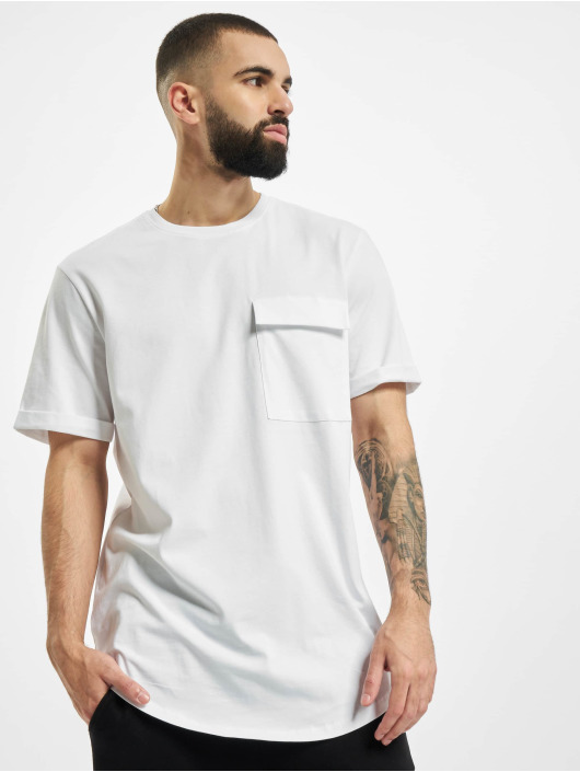 Only & Sons T-Shirty onsUtilli Gavin Longi bialy
