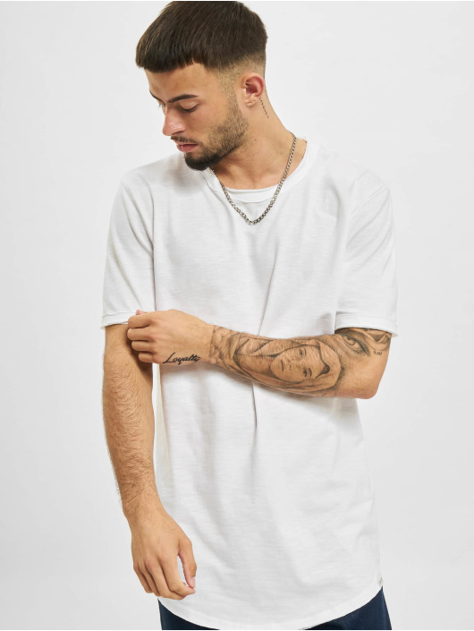 Only & Sons T-Shirty Ons Benne Life Longy NF 7822 bialy