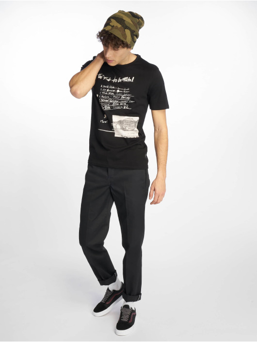 Only & Sons T-Shirty onsEinar Camp Fitted czarny