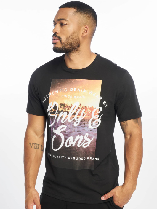 Only & Sons T-Shirty onsBF Sons czarny