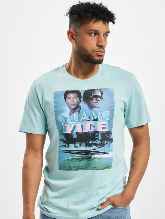 Only & Sons T-Shirty onsMiamivice Summer niebieski