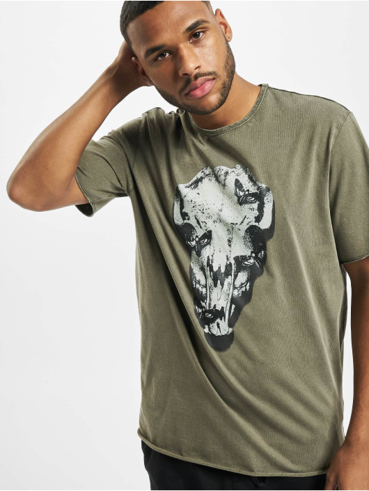 Only & Sons T-Shirty onsBuster Life Reg oliwkowy