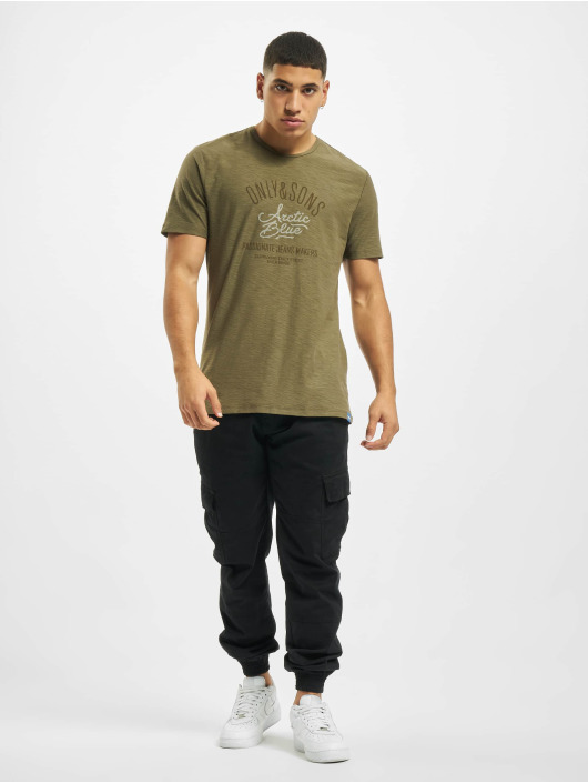 Only & Sons T-Shirty onsBruce Life oliwkowy