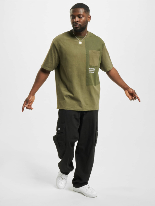 Only & Sons T-Shirty onsKingson Life Oversize oliwkowy